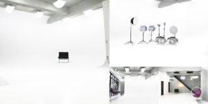 天井高の白ホリゾント撮影スタジオ